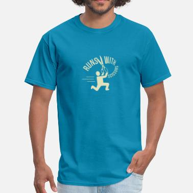 Running With Scissors Funny Runs With Scissors - Men's T-Shirt