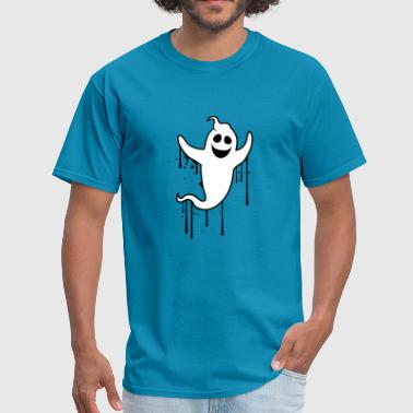 drop stickers graffiti spray ghost ghost laugh cut - Men's T-Shirt