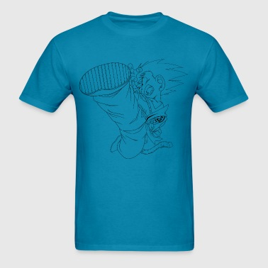 kid goku lineart - Men's T-Shirt