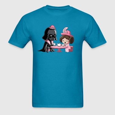 Cute Star Wars Darth Vader and Princess Leia comic - Men's T-Shirt