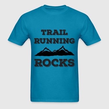 Trail Running Rocks - Men's T-Shirt