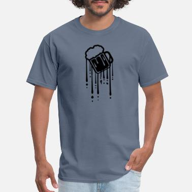 Alcoholic drop graffiti glass drink beer alcohol area thirst - Men's T-Shirt