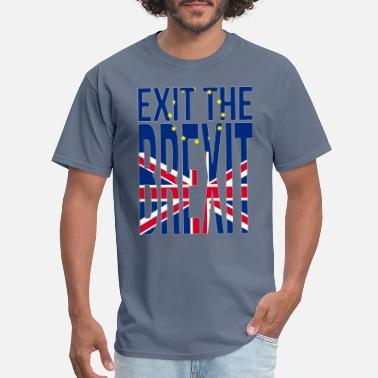 Eu Europa Exit the Brexit Union Jack Demonstration Europe - Men's T-Shirt