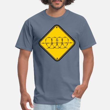 Wire zone shield caution caution barbed wire security b - Men's T-Shirt