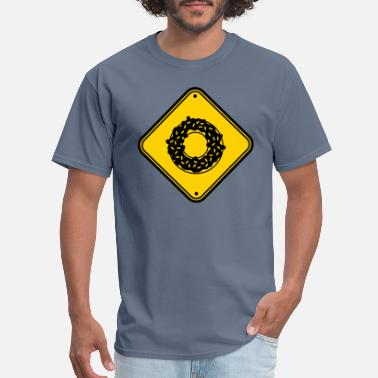 Danger Danger zone caution note danger danger warning design lov - Men's T-Shirt