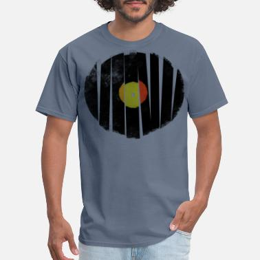Broken Records Broken Vinyl Record Retro Music Vintage Grunge - Men's T-Shirt