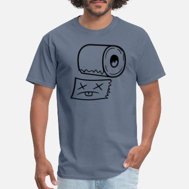Funny Face funny dead face ripped off piece of toilet paper p - Men's T-Shirt