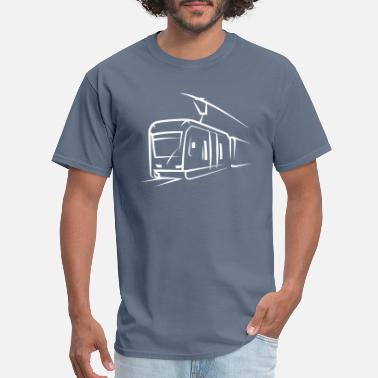Subway Train locomotive tram elevated train subway symbol - Men's T-Shirt
