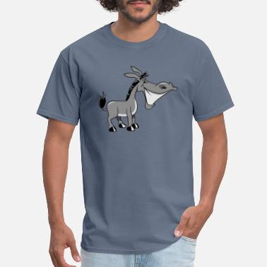 Donkey donkey funny teeth cool animal muli funny nature q - Men's T-Shirt