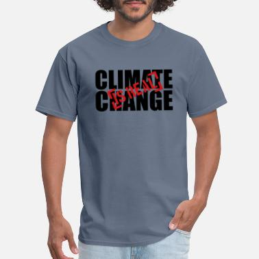 Stamped stamp Climate Change Is Real red climate change ea - Men's T-Shirt