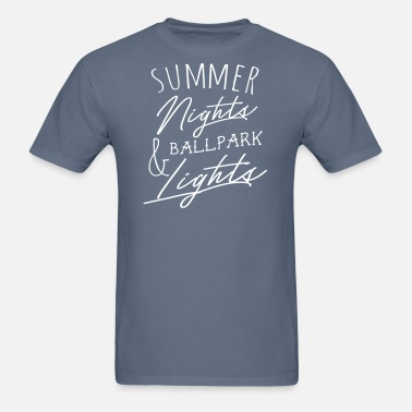 1694b20eebaf Summer Nights   Ballpark Lights Men s Premium T-Shirt