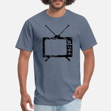 Tearing scratch tears tv television screen watch watch vid - Men's T-Shirt
