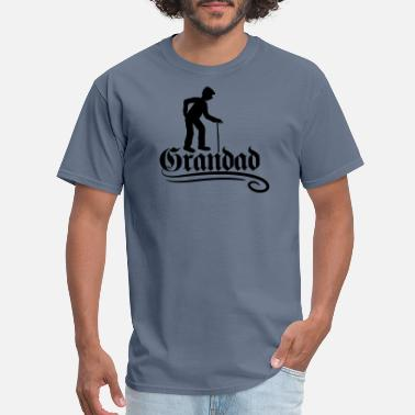 Old Grandad figure stock text grandad grandpa old german font - Men's T-Shirt