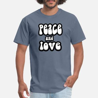 The Beatles Love peace and love beatles - Men's T-Shirt