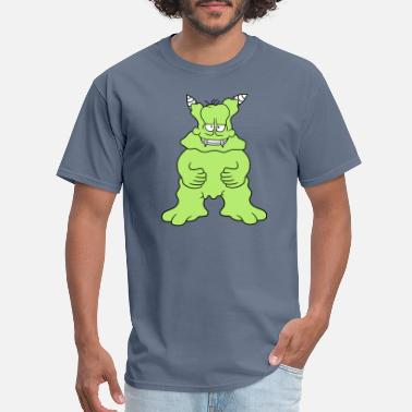 Comic Artist big alien monster disgusting funny little cartoon - Men's T-Shirt