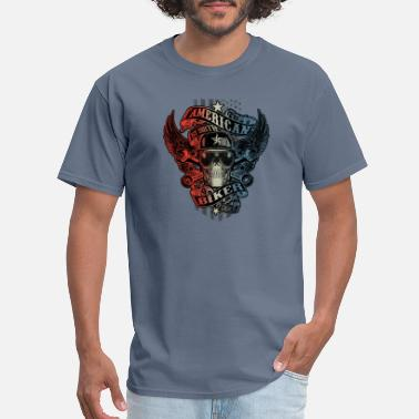 Flag Indian American by Birth BIKER - Men's T-Shirt