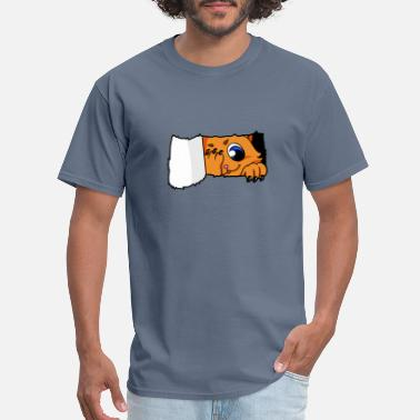 Cat Lover Cat Kitty Peek a Boo Scratch Cat Lover gift - Men's T-Shirt