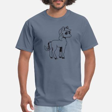 Pony Farm Pony horse ride pony farm fun girl cute sweet jump - Men's T-Shirt