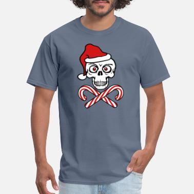 Again bones candy cane christmas cool december eat hunge - Men's T-Shirt