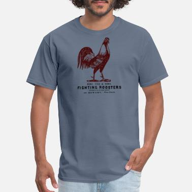 Cock Fighting Vintage Rooster Fight - Men's T-Shirt