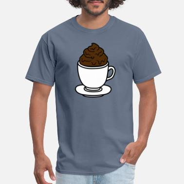 Cocoa Tea cup coffee chocolate cocoa tea shit feces disgusti - Men's T-Shirt