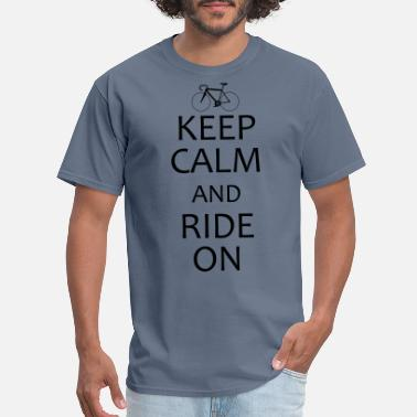 Road keep calm and road bike - Men's T-Shirt