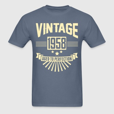 VINTAGE 1958 - Aged To Perfection - Men's T-Shirt