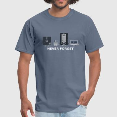 Never forget old technology - Men's T-Shirt