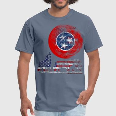 Tennessee State Flag WOLF PACK TENNESSEE - Men's T-Shirt