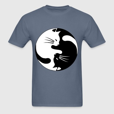 Cats yinCats yin yang - Men's T-Shirt