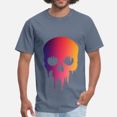Skull Painted Melting Skull paintMelting Skull paint - Men's T-Shirt