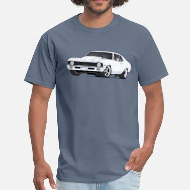 Nova 1972 Chevrolet Nova SS drawing - Men's T-Shirt