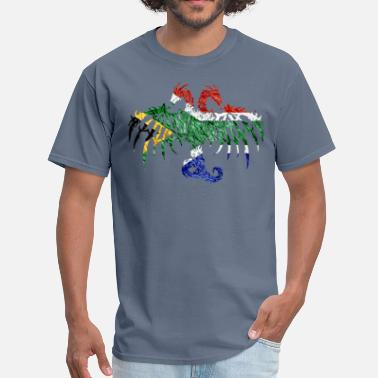 A South African SOUTH AFRICAN FLAG DRAGON - Men's T-Shirt