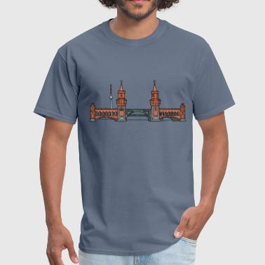 Bridge Over Oberbaum Bridge Berlin - Men's T-Shirt