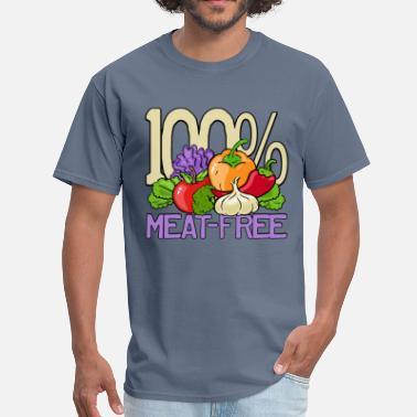 Meatless 100% Meat Free - Men's T-Shirt