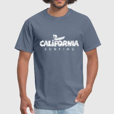 California Surfing Distressed White - Men's T-Shirt