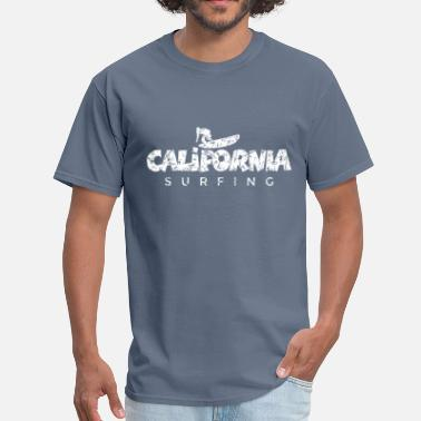 A Distress Surfing California Surfing Distressed White - Men's T-Shirt