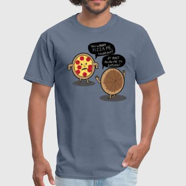 Funny pizza fight puns - Men's T-Shirt