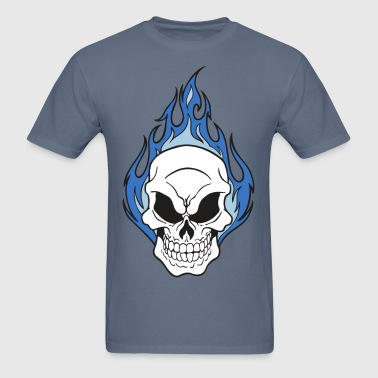 Skull on Fire - Men's T-Shirt