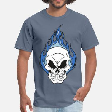 Fire Skull Skull on Fire - Men's T-Shirt