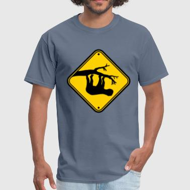 Hand Sign caution caution warning sign hint tree bough head - Men's T-Shirt