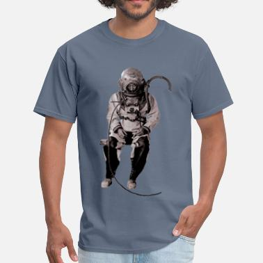 Diving Commercial Siebe Gorman Diver with Diving Helmet - Men's T-Shirt