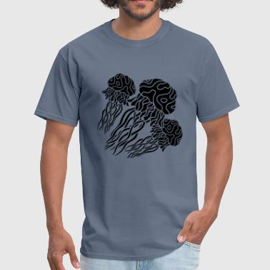 black gray cool 3 many team jellyfish swimming und - Men's T-Shirt