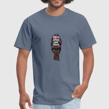 Young Gifted and Black - Melanin Natural Girl - Men's T-Shirt
