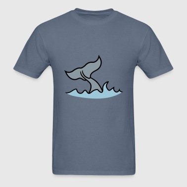waves fin gray whale blue whale pot whale humpback - Men's T-Shirt
