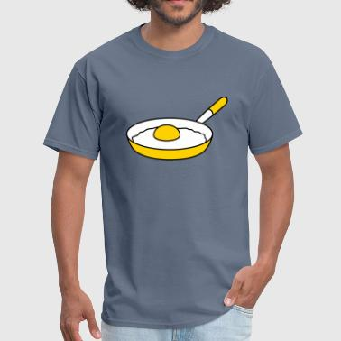 fried egg egg yolk design cool cook barbecue food - Men's T-Shirt