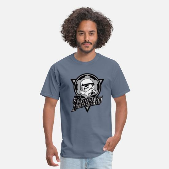 Leia T-Shirts - Funny and cool Star Wars Stormtrooper parody - Men's T-Shirt denim