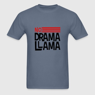 text logo no drama llama party cool celebrate fun - Men's T-Shirt
