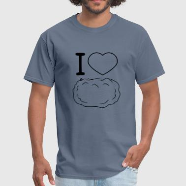 yummy i love i heart heart food potato vegetable f - Men's T-Shirt