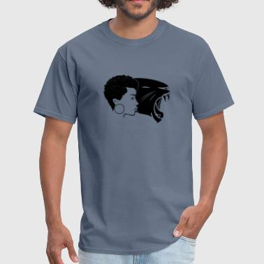 Black woman with a Black Panther ,Power, Strong, - Men's T-Shirt